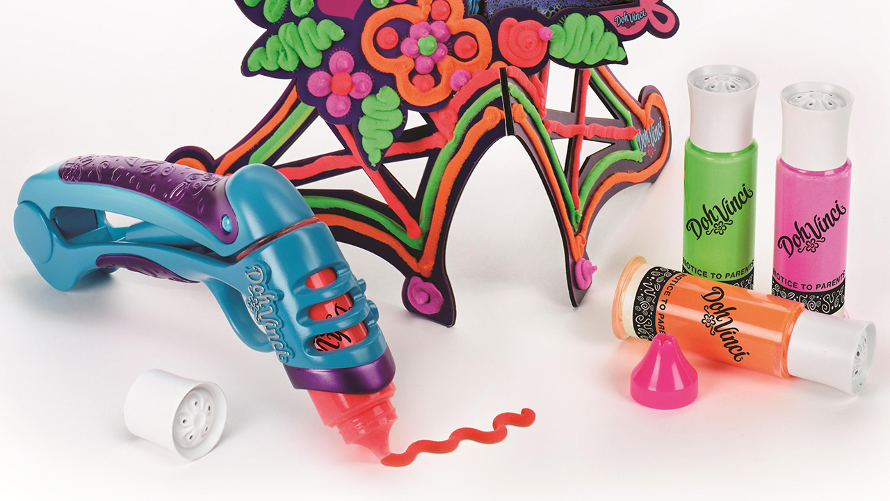 The DohVinci Is The First Handheld 3D Play-Doh Printer For Kids