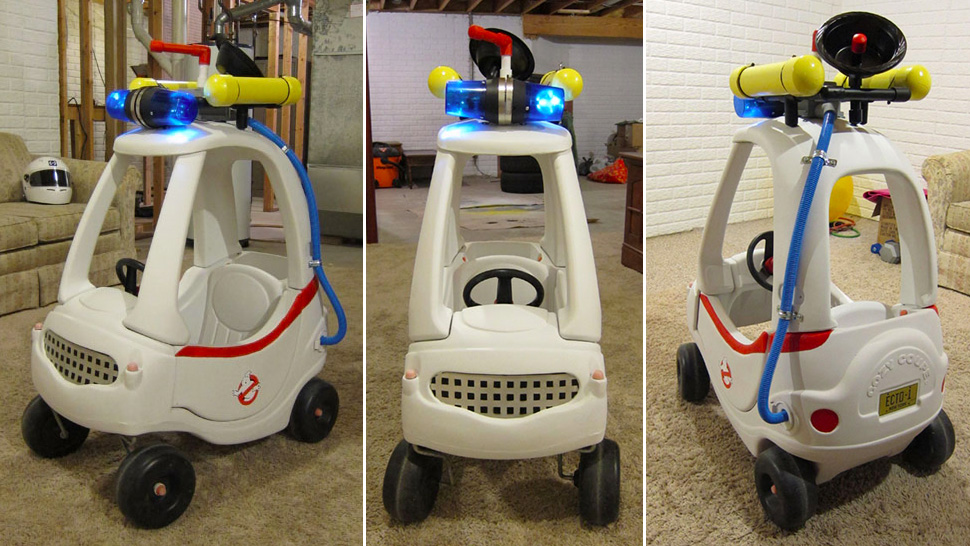 Homemade 'Cozy Coupe' Ecto1 Is Unofficially Awesome