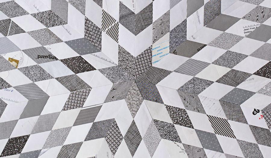 You'd Never Guess These Quilts Are Made From Thousands Of Envelopes