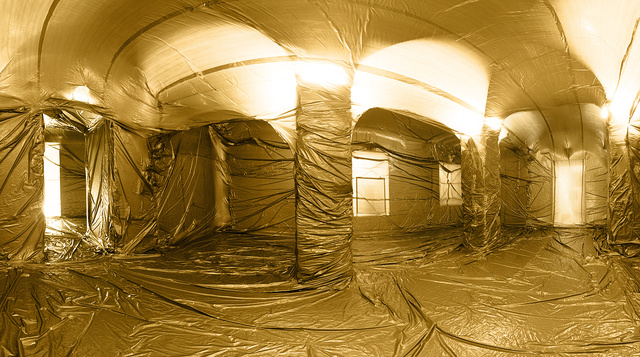 These Giant Balloons Inflated Indoors Look Completely Surreal