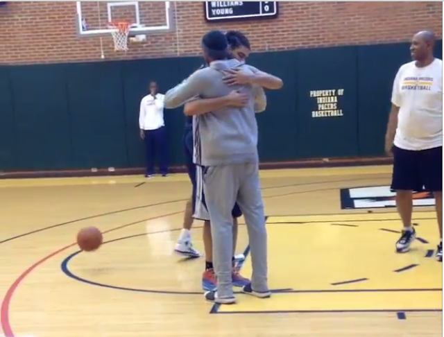 Danny Granger Shares A Sad Goodbye With His Pacers Teammates