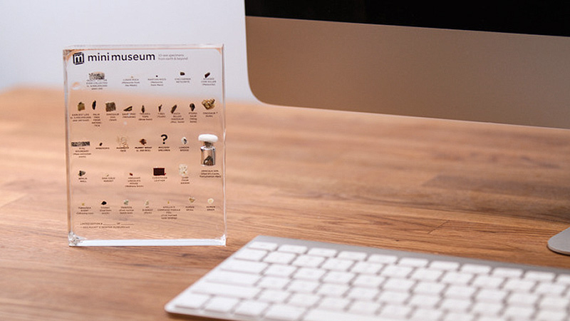A Tiny Desktop Museum With Dinosaur Eggs, Moon Rocks And Titanic Coal