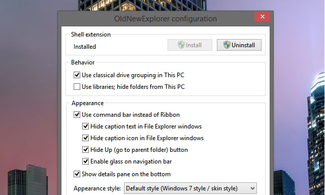 ku xlarge OldNewExplorer Customizes Windows Explorer to Be More Like Windows 7