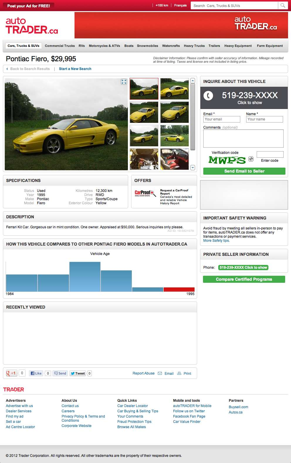 For $29,995, Fool Absolutely No One, Eh