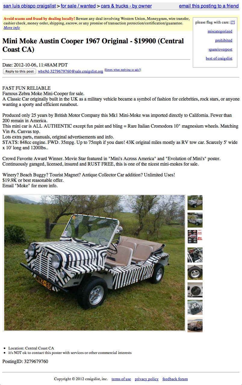 For $19 900 Be A Moke