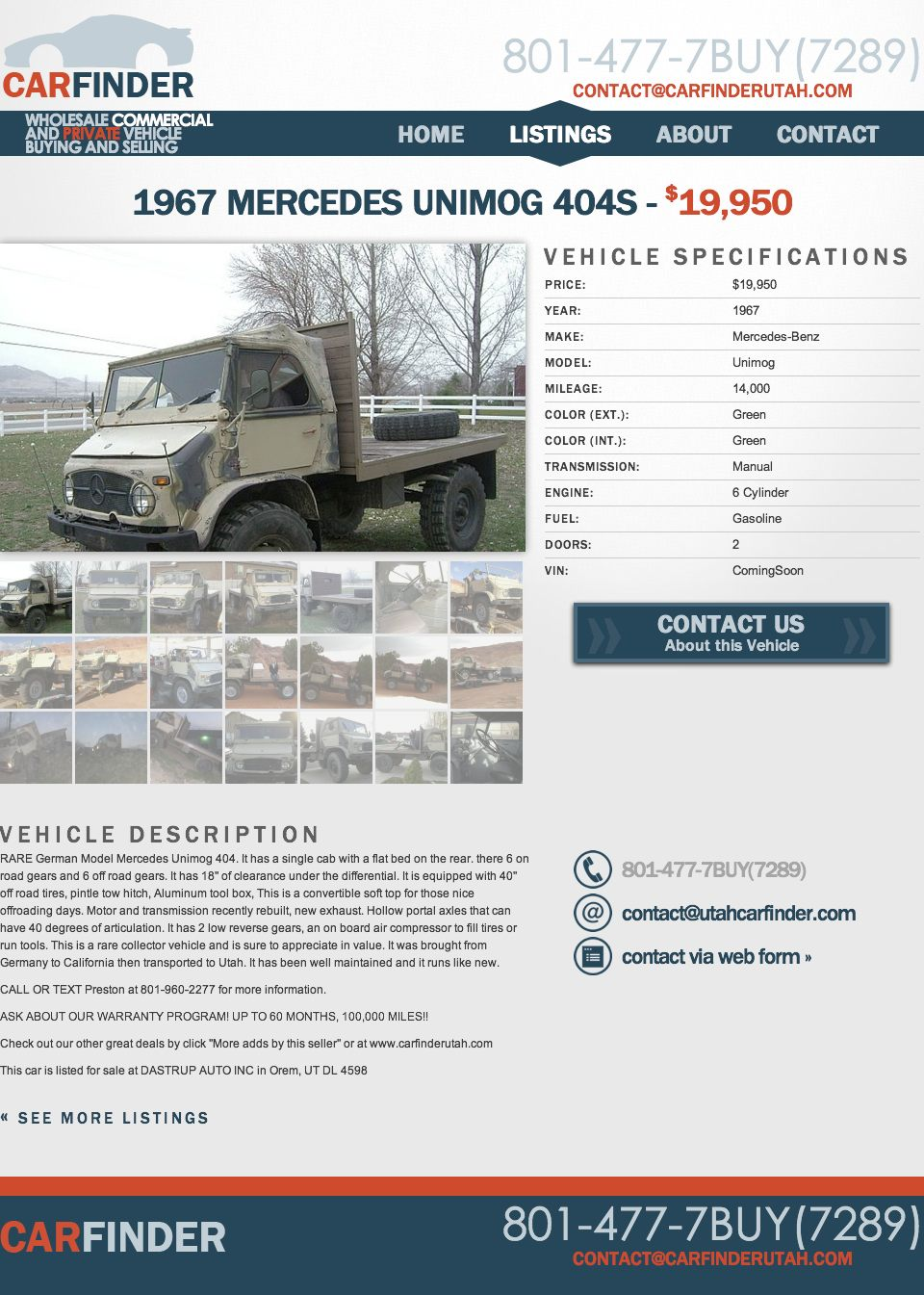 For 19950 Heres a Unimog To Go With Your Unibrow
