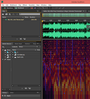Adobe Audition Timeline from Bobby Owsinski's Big Picture production blog
