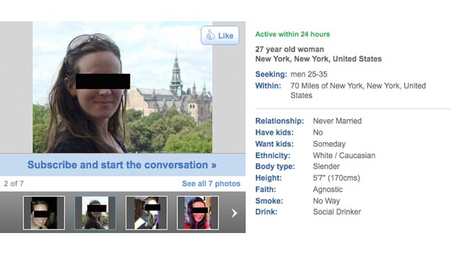 That's what you're signing up for. The Lies Everyone Tells on Dating Sites