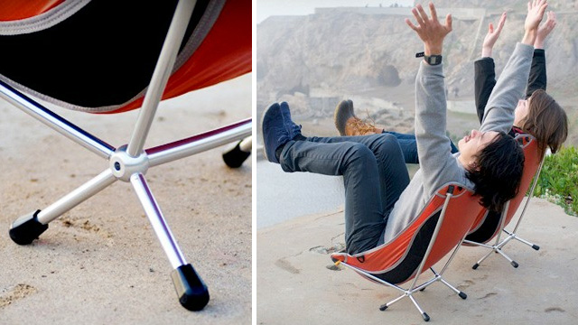 Collapsible Laidback Lounger Is Perfectly Angled For Lazy Campfire Nights
