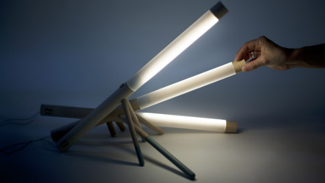 Delightfully Minimalist Baton Lamps Make For a Pile With Style