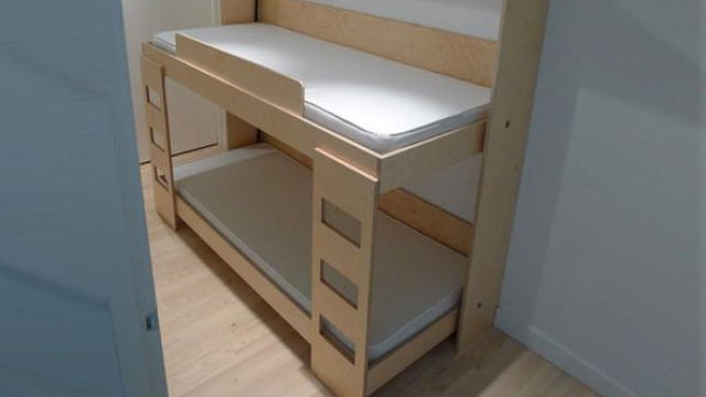Clever Folding Bunk Bed Leaves So Much Extra Space for Activities