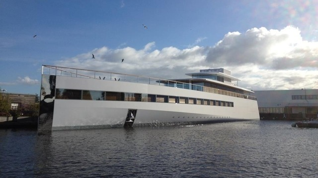 Watch Steve Jobs' Super Sleek Yacht Unveiled For Christening
