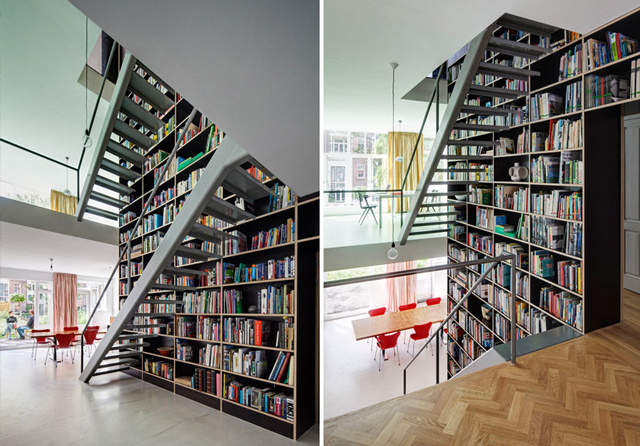 This Entire Beautiful House Was Built Around a Giant Three-Story-High Bookshelf