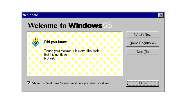 These Are the Windows 95 Tips We All Really Wanted