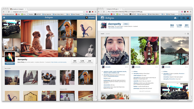 Rethinking Instagram (On the Web)