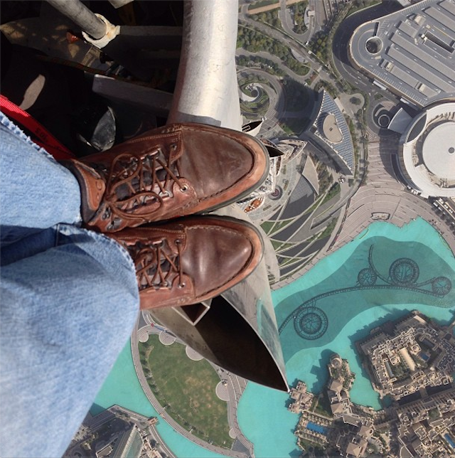 An Instagram Foot Shot From the Tallest Building in the World Is the Best Instagram Foot Shot