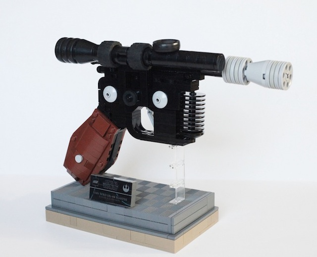 This Amazing Lego Recreation of Han Solo's Blaster Pistol Will Make You Want to Shoot First
