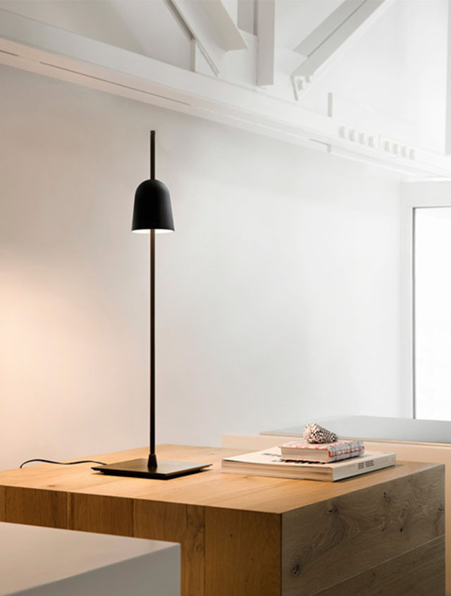 The Shade Is Also the Dimmer on the Ascent Lamp