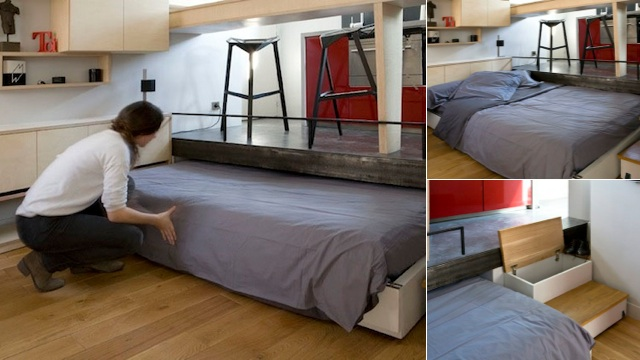 Spot The Hidden Bed In This Tiny Paris Apartment Gizmodo