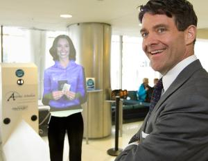 > Aug 12 - Holograms could soon replace airport workers - Photo posted in BX Daily Bugle - news and headlines | Sign in and leave a comment below!