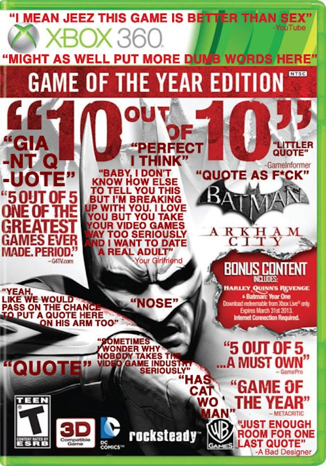 Batman Arkham City Game Of The Year Edition Xbox 360 Ign | Share The