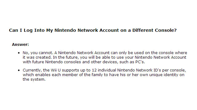 Don't Lose/Break Your Wii U, Because Your Nintendo Network Account is Tied to it